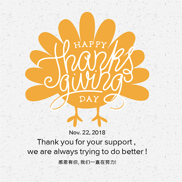 Thanksgiving-Thank You for Your Support!