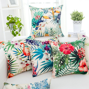 Tropical Flamingo Animal Floral Sofa Printing Cushion Cover For Home Decor