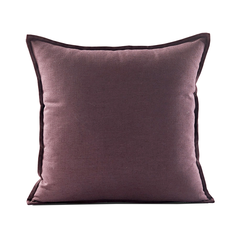 Monad High Quality Throw 18 Inch Solid Design Cushion Cover And Pillow Cover
