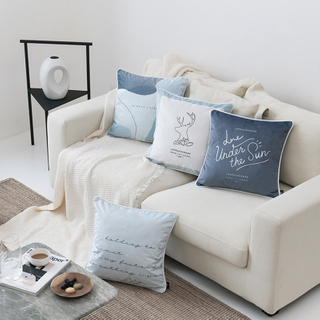 Monad Latest Design Nordic Simple Printing Velvet Cushion Cover For Sofa