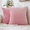 Monad Christmas Luxury Plain Sofa Holland Dutch Velvet Sofa Cushion Cover With Knife Edge
