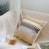 Monad Wholesale 100 Cotton Custom 50x50 Yellow Geometric Hand Embroidery Cushion Cover