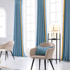 Monad Ready Made Luxury Hotel Drapes And Fabrics Pure Color Window Curtains For Decor
