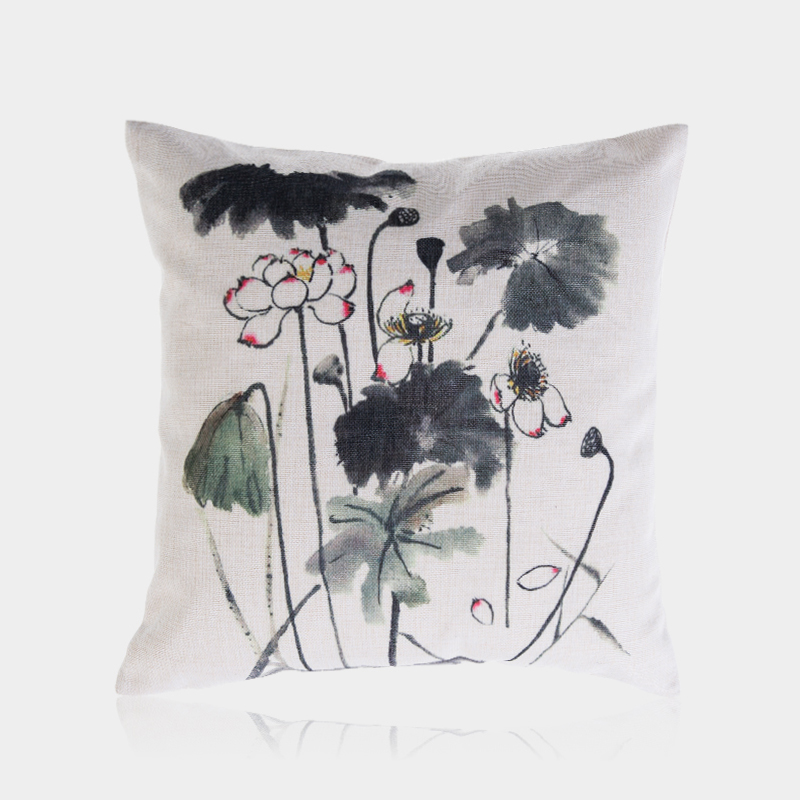 Wholesale Decorative Chinese Style Black And White Pillow Cover For Sofa