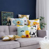 Rose Square Couch Sofa WatercolorPolyester Cushion Cover Set With Your Own Design