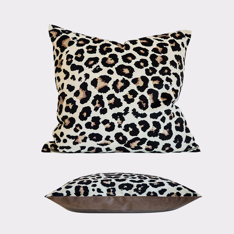 Monad New Tropical Soft Decorative 24x24 Square Print Leopard Pillow Case Cushion Cover