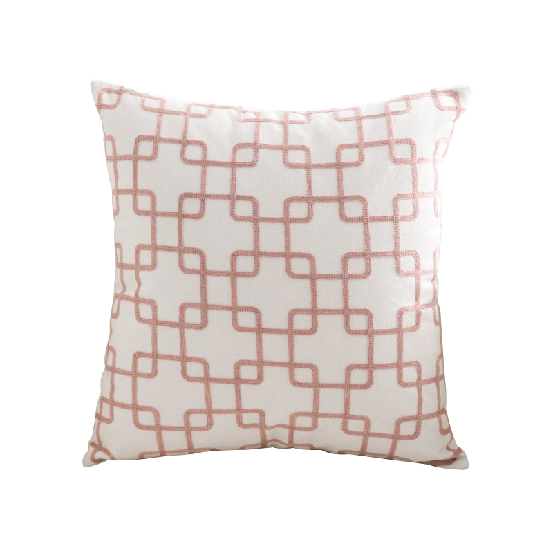 Monad Nordic 60 x Cotton Plain Geometric Embroidery Cushion Cover