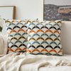 Monad 45x45 Geometric Embroidered Covering Sofa Cushion Cover For Home Decorative