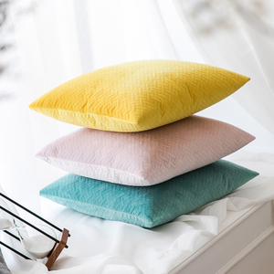 Monad China Manufacture Special Offer Wholesale Multicolor Sets Embossed Velvet Cushion Cover