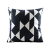 Monad Bohemian Moroccan Black And White Rectangle Printed Cushion Cover For Hotel