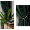 Monad Modern Beautiful 100 Polyester Breathable Solid Blackout Fabrics Window Curtain