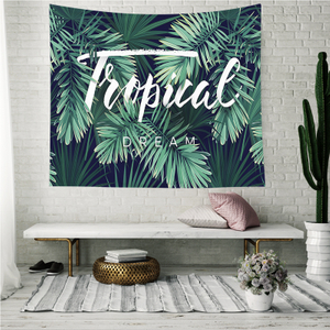 Monad Custom Size Tropical Floral Rainforest Cactus Wall Hangings Tapestry