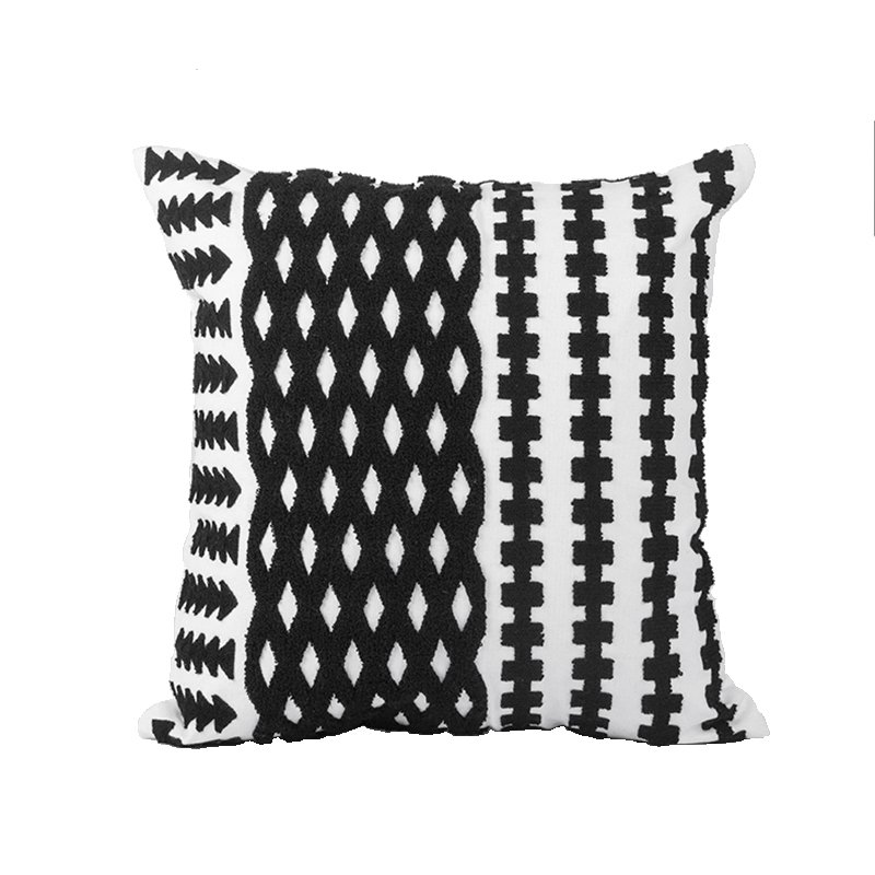 Nordic Personalised Outdoor Patio Lounge Embroidered Decorative Square Cushion Cover