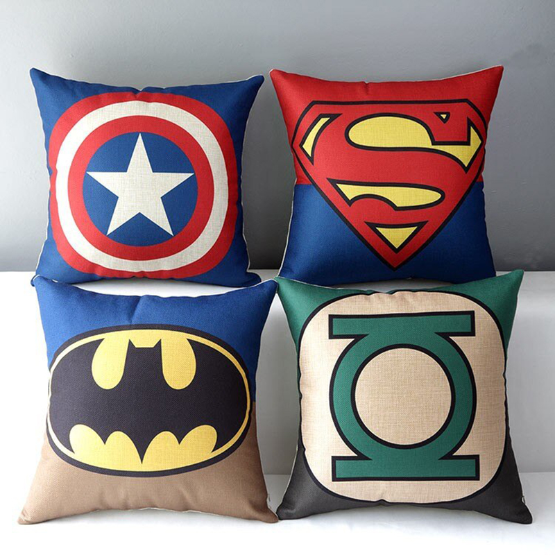 Monad European Super Hero Fancy Digital Print Cushion Cover For Sofa Fashion